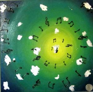 musica, arte,disegno, pittura, original passion, oriana papais, note musicali, vita