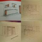 disegni su cartoncini realizzati a mano con matite e colorati con pastelli