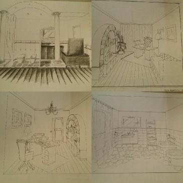 prospettive, arredo, interni, legno, su misura