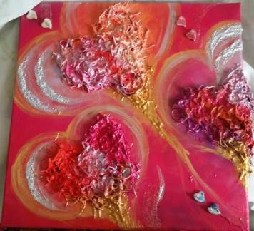 cuori, colore, gioia, speranza, vita, arte, corsi, oriana papais