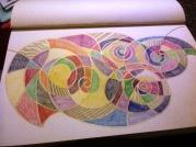 Disegnasto su cartoncino con pastelli e penarelli