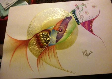 Disegno reallizzato su cartoncino con pastelli