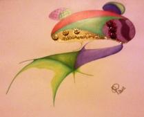 Disegno realizzato con colori a pastello